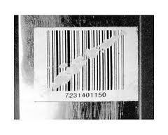 Поврежденный штрих код