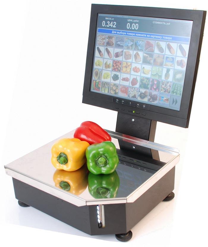 Сенсорный монитор на весах