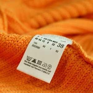 Информация на ярлык для одежды